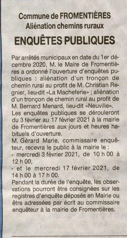 Article Ouest-France 4 janvier 2021