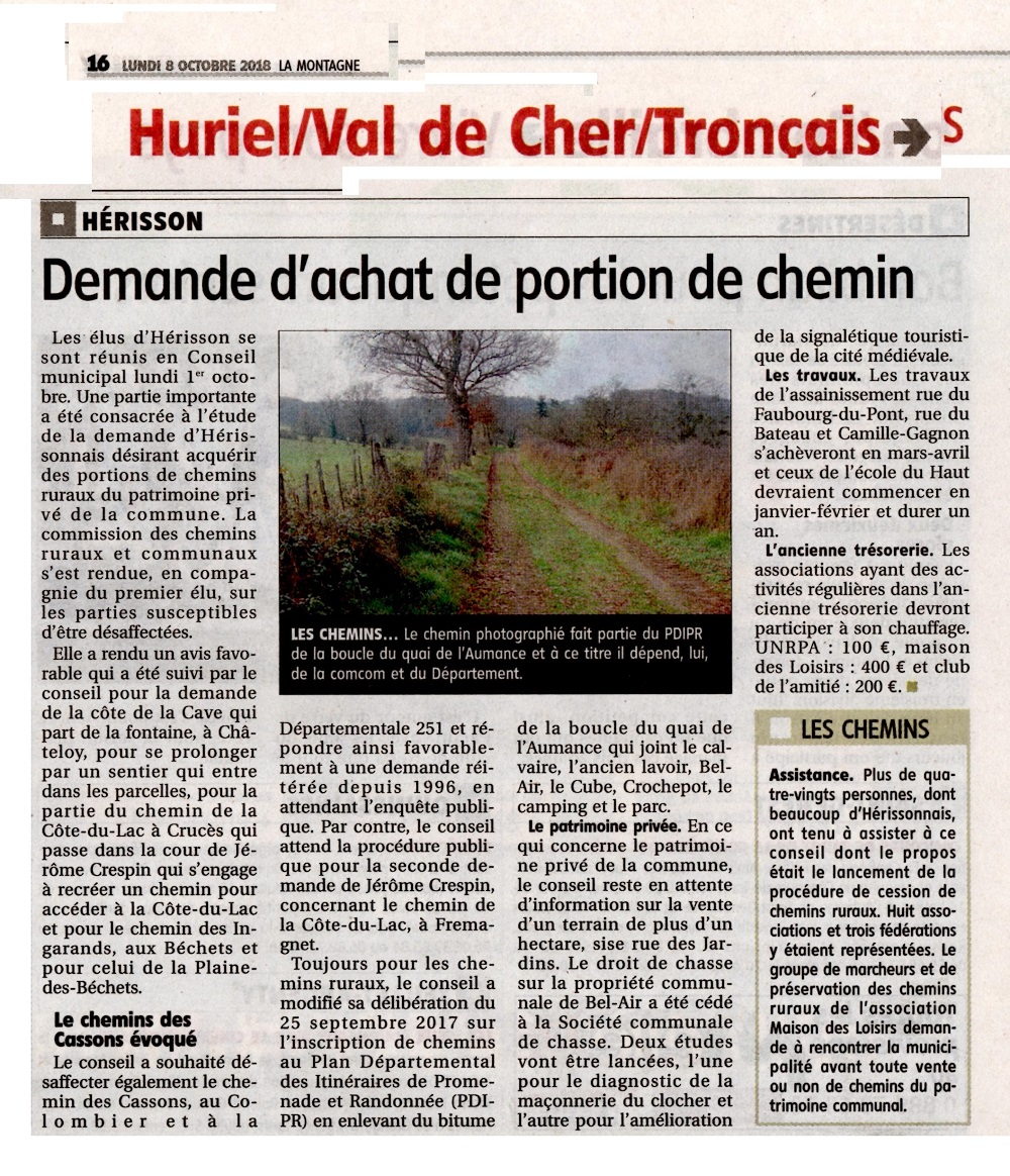 Presse le herisson 01 10 2018 cr